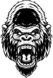 Голова яростной гориллы иллюстрация штока