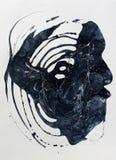 Голова bstract  Ð покрашенная рука предпосылки Часть художественного произведения стоковая фотография rf