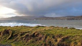 Голова Muckross малый полуостров около 10 km к западу от Killybegs, Co Donegal, в северозападной Ирландии видеоматериал