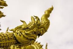 Голова Naga в тайском виске Стоковая Фотография