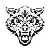 Головка волка иллюстрация вектора