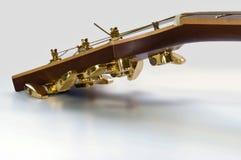 головка гитары крупного плана Стоковые Изображения RF