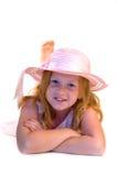 головка девушки кладя детенышей Стоковые Изображения RF