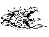 Головка дракона иллюстрация вектора