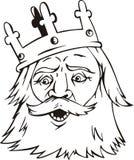 Головка короля иллюстрация штока