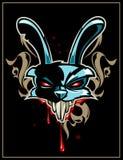 Головка кролика с картиной иллюстрация вектора