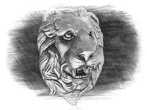 Головка льва иллюстрация штока