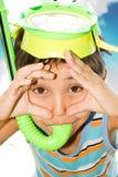 головка мальчика его маска Стоковые Изображения RF