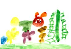 головка слышит малыша красного s иллюстрации Стоковые Изображения RF