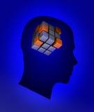 Головка с кубиком бесплатная иллюстрация