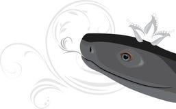 Головка черной змейки с кроной диаманта Стоковое Фото