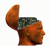 головка электроники Иллюстрация вектора