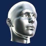 головка cyborg футуристическая иллюстрация штока