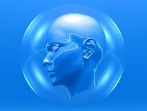 головка cyborg Стоковое Изображение RF