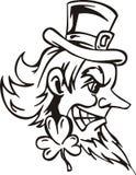 Головка Leprechaun иллюстрация штока
