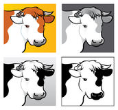 головки говядины иллюстрация вектора