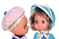 головки девушки куклы мальчика счастливые Стоковые Изображения RF
