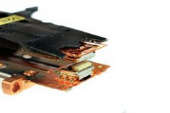 Головки для магнитной записи старого неповоротливого привода Стоковая Фотография RF