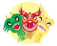 головки дракона бесплатная иллюстрация