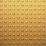 головки золота заклепывают лист иллюстрация штока