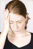 головная боль девушки Стоковая Фотография RF