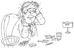 головная боль кризиса хозяйственная Бесплатная Иллюстрация