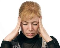 головная боль стоковое изображение