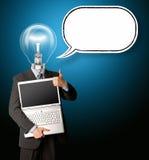 головная лампа бизнесмена Стоковое Изображение