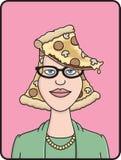 головная пицца иллюстрация вектора