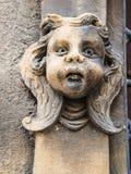 Головная скульптура на des Tetes Maison в Кольмаре Стоковое фото RF