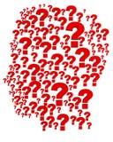 головной вопрос Стоковое Изображение RF