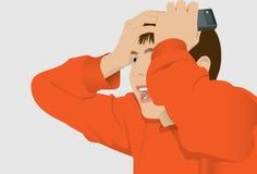 головной держать Стоковое Изображение RF