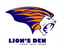 головной львев Логотип льва головной бесплатная иллюстрация