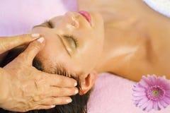 головной массаж Стоковое Фото