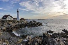 головной маяк portland ligh Стоковая Фотография