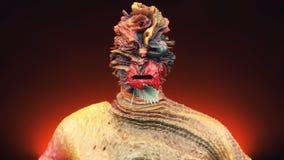 Головной разрушенный человек Стоковая Фотография
