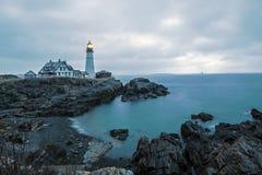 головной светлый маяк portland Стоковые Фотографии RF