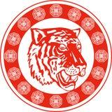 головной тигр Стоковые Фотографии RF