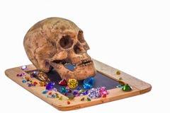 головной череп на диамантах Стоковые Фото