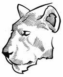головной эскиз льва Стоковое Изображение