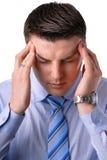 Головные боли бизнесмена детенышей Стоковая Фотография RF