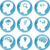 Головные иконы профиля Стоковое Изображение RF