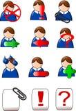 головные иконы Стоковые Изображения RF