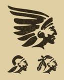 головные индейцы Стоковая Фотография RF