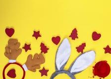 Головные уборы масленицы оленя и зайца Стоковая Фотография