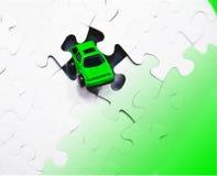 головоломка автомобиля зеленая Стоковая Фотография