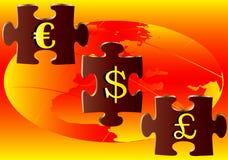 головоломка валюты Бесплатная Иллюстрация