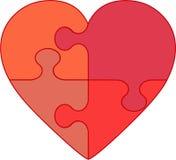 головоломка влюбленности иллюстрации Харта Стоковое Изображение