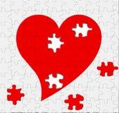 головоломка влюбленности Стоковые Фото