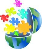головоломка глобуса Стоковая Фотография RF